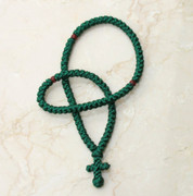 100-knot Greek Prayer Rope - Forest Green