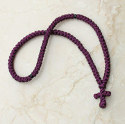 100-knot Greek Prayer Rope - Plum