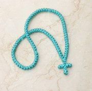100-knot Greek Prayer Rope - Turquoise