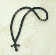 100-knot Greek with Accents - with Garnet Beads