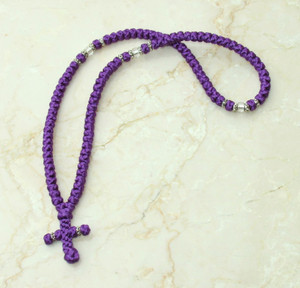 100-knot Greek with Accents - Purple
