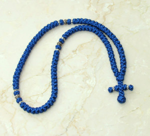 100-knot Greek with Accents - Royal Blue