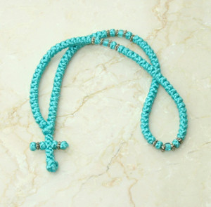 100-knot Greek with Accents - Turquoise