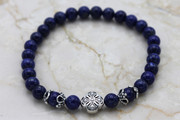 Semi-Precious Stone Lapis Lazuli Prayer Bracelet