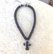 50-knot Greek with Accents - 2 ply with Blue Beads