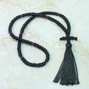 100-knot Russian Prayer Rope - with Red Beads