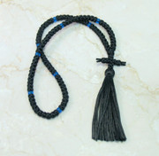 100-knot Russian Prayer Rope - with Blue Beads