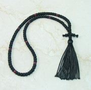 100-knot Russian Prayer Rope - with Garnet Beads