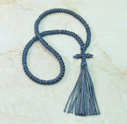 100-knot Russian Prayer Rope - Deep Grey