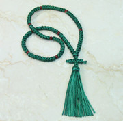 100-knot Russian Prayer Rope - Forest Green