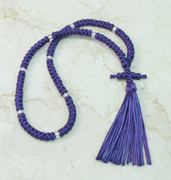 100-knot Russian Prayer Rope - Purple