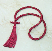 100-knot Russian Prayer Rope - Wine