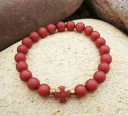 Pomegranate Buri Seed Wrist Prayer Rope