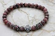 Semi-Precious Stone Rhodochrosite Prayer Bracelet