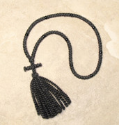 100-knot Russian Prayer Rope - 2 ply with Black Beads