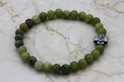 Olive Jade Semi-Precious Stone Prayer Bracelet