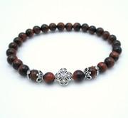 Tigereye Semi-precious stone prayer bracelet