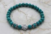 Semi-Precious Stone Turquoise Prayer Bracelet