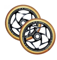 ENVY 120MM/30MM TRI BEARING WHEEL- BLACK/GOLD |PAIR
