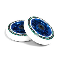 North Scooters Wagon Wheel 110MM Pair White/Blue