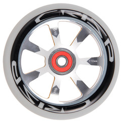 Crisp Hollowtech 110mm Scooter Wheel - Pair Grey/Black