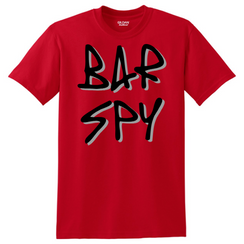 Bar Spy Graffiti Shadow tee red