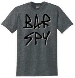 Bar Spy Graffiti Shadow Tee Dark Gray