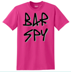 Bar Spy Graffiti Shadow Tee Pink