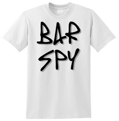 Bar Spy Graffiti Shadow Tee White