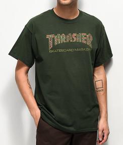 Thrasher Davis Tee Forest Green