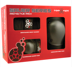 Triple 8 Saver Series 3-Pack Pad set Small