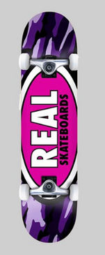 Real Oval Complete Camo Purple 8""