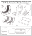 Seat Kit Black MGB 70-73