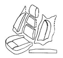 Seat Foam Kit TR6 70-72,MSFK2024