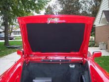 Hood Bonnet Liner for Storage Compartment for Porsche 911 Automobiles