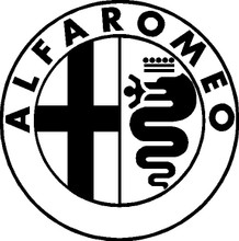 Alfa Romeo Emblem Decal 6 or 10 inch