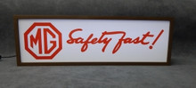 MG Classic Safety First - Lighted Sign