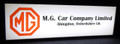 MG Car Company Limited - Lighted Sign