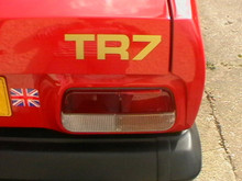 1978-1981 Triumph TR7 OEM Rear Trunk Boot Badge Decal Set