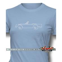 Triumph TR4 / TR5 Convertible Women T-Shirt