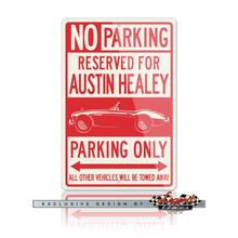 Austin Healey 3000 MKIII Roadster Reserved Parking Only Sign