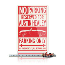 Austin Healey Sprite MKI Roadster Reserved Parking Only Sign
