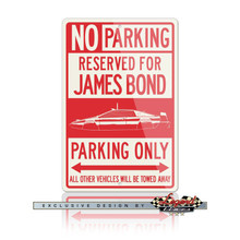 Lotus Esprit James Bond 007 Submarine Reserved Parking Only Sign