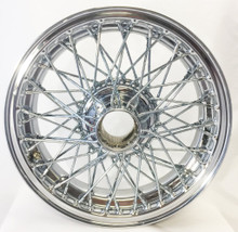 "Austin Healey / MG / Morgan / Triumph - 15""x 4.5"" 60 Spoke Chrome & TUBELESS (xw452)"