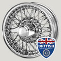 "Austin Healey / MG / Sunbeam 13""x 4"" 60 Spoke Chrome Tube-Style (xw458)"