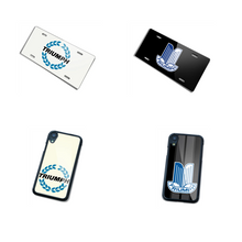 Triumph Phone Case and License Plate Package Deal