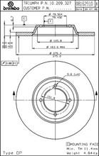 Brake Rotor Brembo TR3B-TR6, 209327B