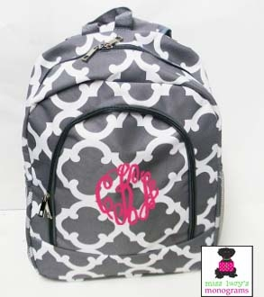 Monogrammed Backpacks and Track Bags