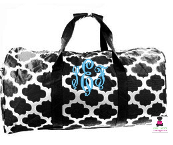 Beautiful Monogrammed Duffle/Duffel Bags LY01