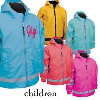 children sized new englander rain jacket